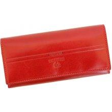 Emporio Valentini 563 PL11 červená dámská kožená peněženka