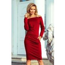 Numoco dámské šaty 225-2 červená b23a4dfaed