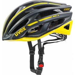 Přilba, helma, kokoska Uvex RACE 5 BLACK MATT/YELLOW 2015
