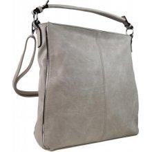 Moderní dámská kombinovaná kabelka se stříbrnou linkou 3067-DE světle šedá