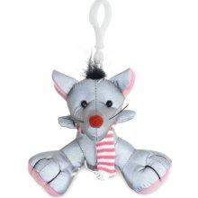 Přívěsek na klíče Reflexní myš EN13356