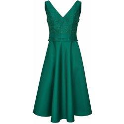 Ashley Brooke by heine koktejlové šaty s kamínky tmavě zelená ... 32181948c5