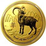 Lunární Zlatá investiční mince Year of the Goat Rok Kozy 1 Oz 2015