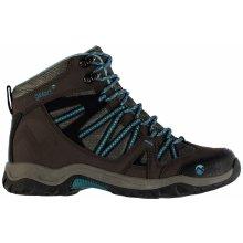 Gelert Ottawa Mid Walking Boots Brown/Teal