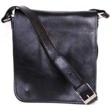 italské luxusní crossbody pánské kožené tašky na rameno Ricardo černá 42264a1dfd5