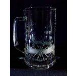 Lužické sklo sklenice pivní skleničky na pivo broušené Kanta DV-209 700 ml