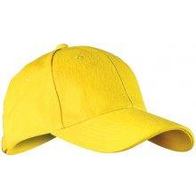 Child 6P kšiltovka na suchý zip žlutá dětská 05f81f6d34