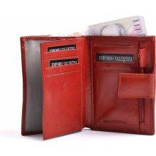 Valentini Dámská peněženka na výšku kožená se kapsou na drobné červená, 10 x 2 x 13 (SV00-563205-00KUZ)