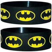 Náramek silikonový Batman logo černý šířka WR67064 CurePink