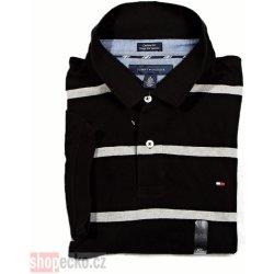 Tommy Hilfiger Polo Custom Fit Stripe C8878 012 Black pánské tričko ... d5b344ac74