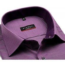 Eterna Modern Fit – košile s fialovým vetkaným vzorem a vnitřním límcem -  prodloužený rukáv afc40b5a9e