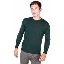 Trussardi Pánský svetr s kulatým výstřihem zelená