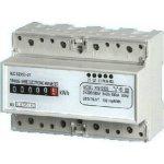 Elektroměr na DIN lištu třífázový mechanický měřič spotřeby wattmetr Hutermann HT-3PM