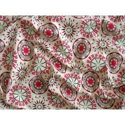 Bavlněný úplet 160 g - Tmavě růžové Mandaly na smetanové alternativy ... 92b183bd506