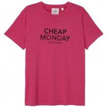Cheap Monday Doodle Logo Tee Neon Pink