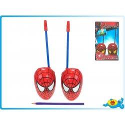 Interaktivní hračky Mikro hračky Vysílačky walkie-talkie Spiderman na BO 27MHz