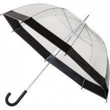 Dámský průhledný deštník LADY černý lem