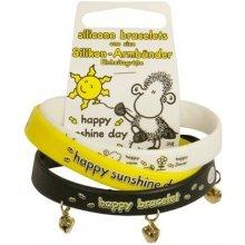 Sheepworld náramek Happy sunshine sada 3ks bílá, žlutá, černá, 034029