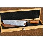 Dellinger IKAZUCHI damaškový japonský kuchařský nůž 22 cm - barva dřevo