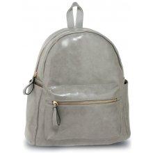 eedf1c8cbc7 Anna Grace elegantní batoh s efektem lesklé kůže světle šedý