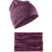 106bef7d530 Craft Craft Melange High čepice + nákrčník fialová 785200