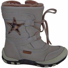 Protetika Dívčí zimní boty s hvězdičkou Verona béžové 3d552045a3