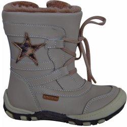 d208f99658f4 Protetika Dívčí zimní boty s hvězdičkou Verona béžové alternativy ...