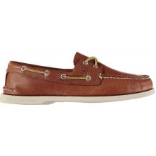 SPERRY Authentic Two Eye Leather Boat Shoes, hnědá