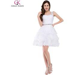 8627a4caa88 Grace Karin společenské šaty krátké CL4589-2 bílá