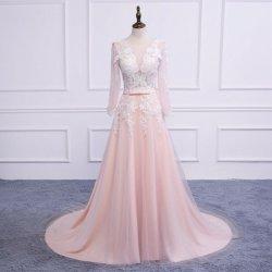 Donna Bridal luxusní plesové a maturitní šaty s bílou krajkou 2832-032  růžová 9912b400032