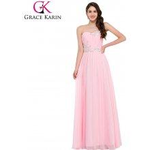 8d4c2b8725d9 Grace Karin luxusní plesové šaty dlouhé CL6107-2 růžová