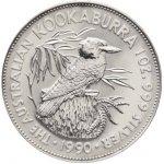 Kookaburra Stříbrná mince 5 AUD Australian Ledňáček 1oz 1990