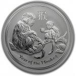 Lunární série II. stříbrná mince 1 AUD Year of the Monkey Rok opice 1oz 2016