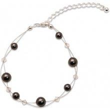 Náramek s perlami Sunny Pearl Black GM Collection 421302