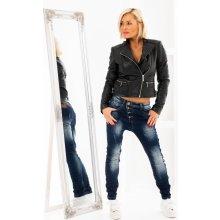 Baggy jeans s knoflíky 46775f9513