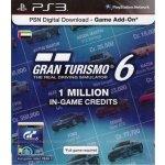 Gran Turismo 6 1 million credit