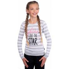 Dívčí triko s dlouhým rukávem SAM 73 GT 520 401 - šedá světlá