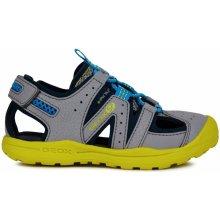 Geox Chlapecké sandály Vaniett - šedé df720ee534