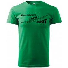Bezvatriko.cz 0308 Pánské tričko A-10 30 mm argumentů Zelená