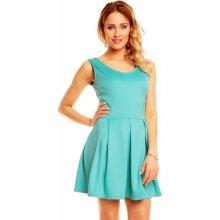 17b16022ce4 Dámské šaty bez rukávů se skládanou sukní krátké modrá