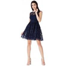 7adc3922557d City Goddess krajkové šaty Giselle tmavě modrá