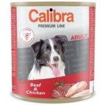 Calibra Dog Premium Adult hovězí & kuře 5 x 800 g