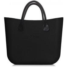 b139f26b70 O bag kabelka Mini Nero s černými krátkými koženkovými držadly