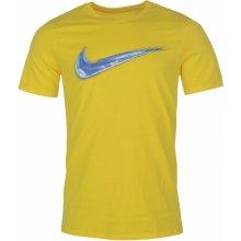Nike Streak Swoosh QTT T Shirt Mens Yellow 48a0ce062b