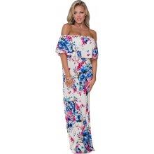 02 Letní maxi šaty boho květované bílá 623436b30f