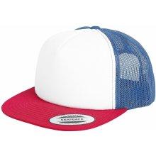 0703e412768 Yupoong Čepice Retro Trucker Trucker kšiltovka bílá námořnická modrá rudá
