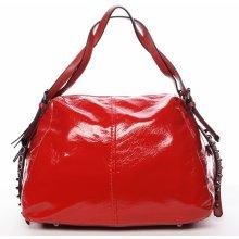 lesklá dámská kabelka Betania červená 55c37309d59