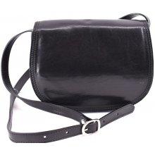 Arteddy dámská kožená kabelka crossbody lovecká černá 221e34e2585