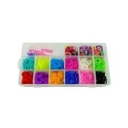 Set gumiček na výrobu náramků v krabičce 12 x 23 x 4