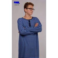 Pánská noční košile s dlouhým rukávem Adam Modrá